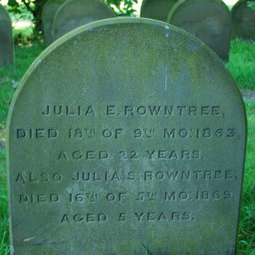 Julia Rowntree's gravestone
