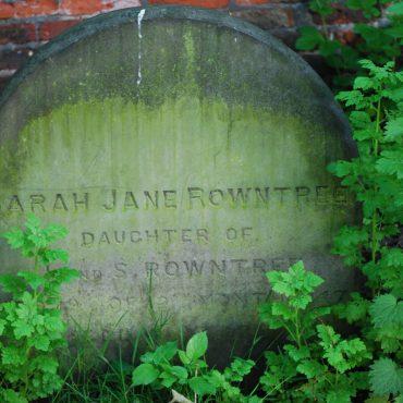 Sarah Rowntree's gravestone