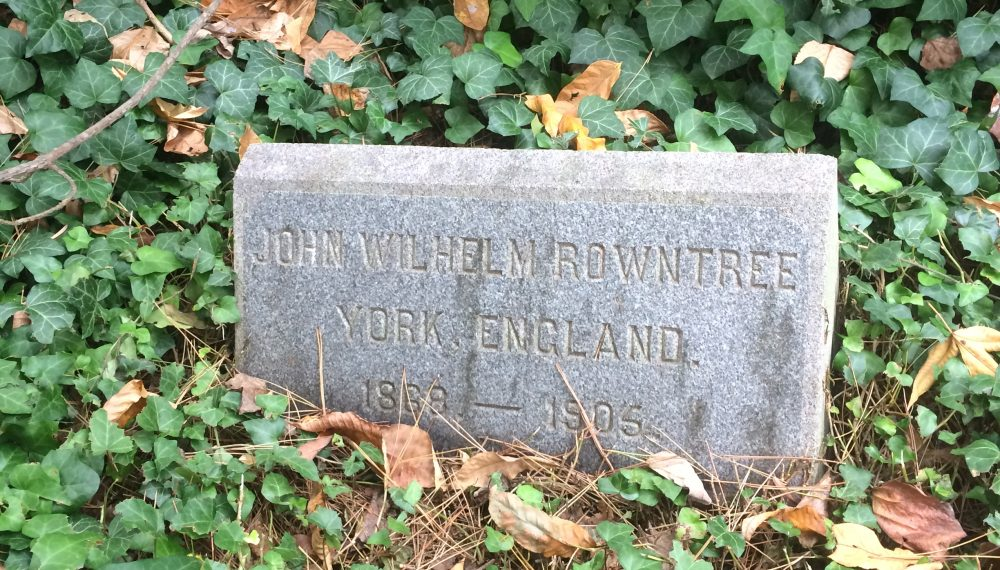 John Wilhelm Rowntree's grave in Haverford, USA