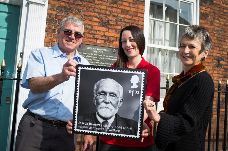 Royal Mail launches a stamp for Joseph Rowntree as one of Six Humanitarians