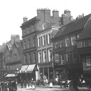 Pavement, the original Rowntrees shop