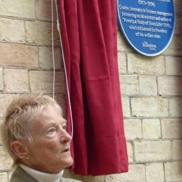 Unveiling of a plaque for Seebohm Rowntree