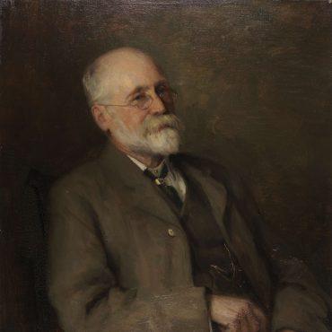 Joseph Rowntree, last portrait, by Percy Bogland RA