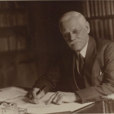 Seebohm at his desk