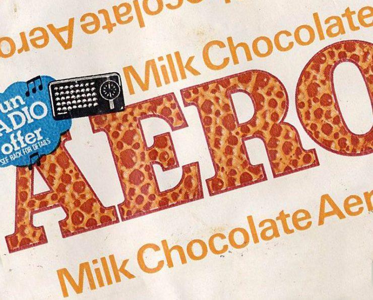 rowntree aero chocolate label