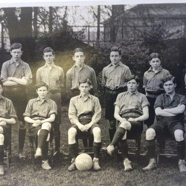 Soccer at school (far right front row)
