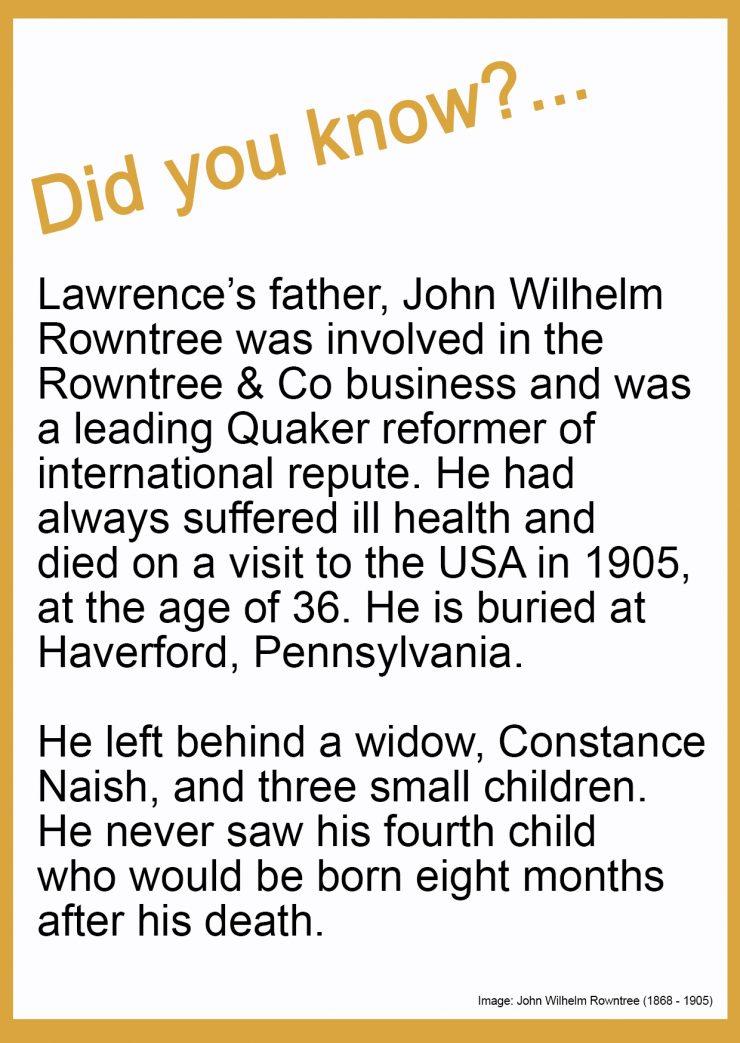 On John Wilhelm Rowntree