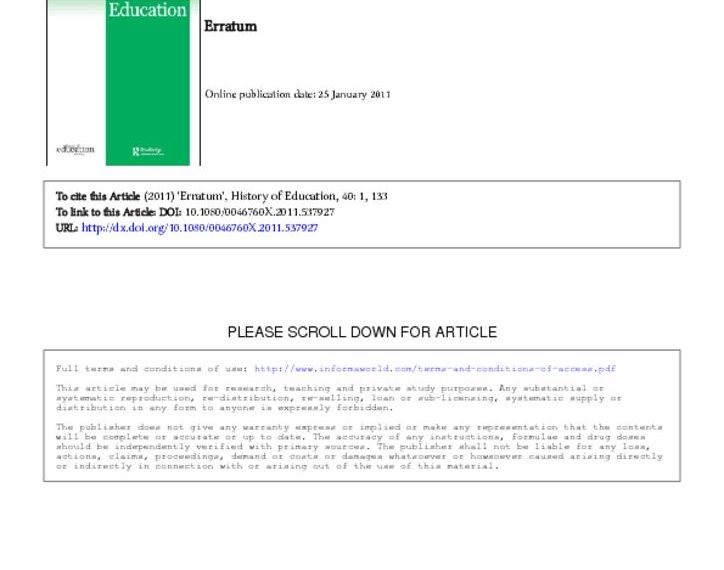 thumbnail of ADULT SCHOOLS ARTICLE ERRATUM HIST OF ED vol 40
