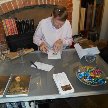 Chris TItley, author, signing copies of 'Joseph Rowntree'
