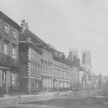 View down Bootham, 1843