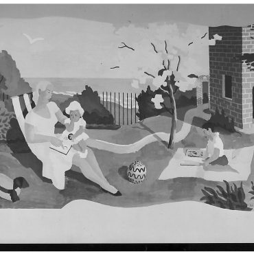 Mural by Kenneth Rowntree in Public Library, Scarborough