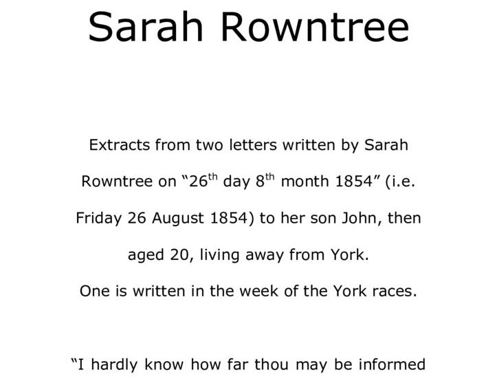 thumbnail of Letters from Sarah Rowntree