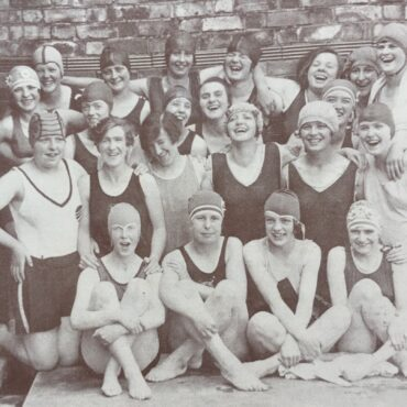 The Rowntree & Co. swimming gala at Yearsley Swimming Baths in York, 1928